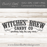 Witches' Brew Candy Company SVG File for Halloween - Commercial Use SVG Files