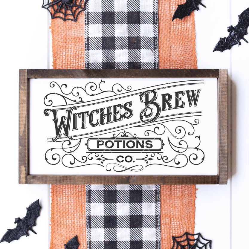 Witches Brew Potion Co. Spooky SVG Cut File for Halloween