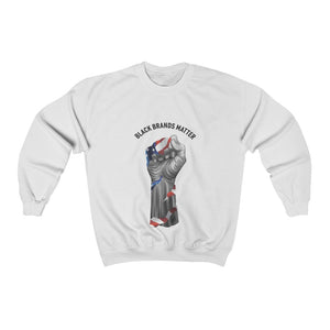 Black Brands Matter Fist Flag Unisex Sweatshirt
