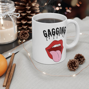 White Gagging Mug 11oz