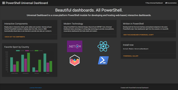 PowerShell Universal Dashboard