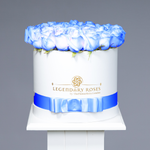 Royal Blue | Medium Round White Box - Legendary Roses
