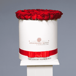 Pure Love | Large Round White Box - Legendary Roses