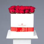 Pure Love | Large Square White Box - Legendary Roses