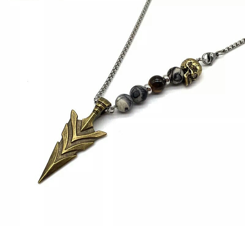 SKULL ARROW PENDANT NECKLACE