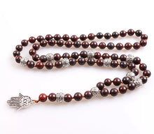 HAMSA BEADED PENDANT NECKLACE