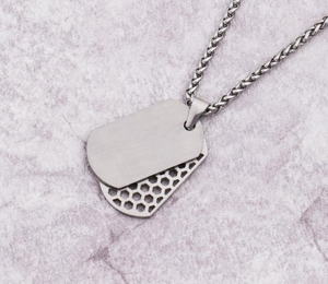 STAINLESS STEEL DOG TAG PENDANT