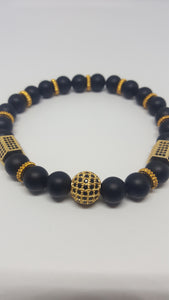 IMPERIAL CROWN 2pcs SET IN BLACK/GOLD