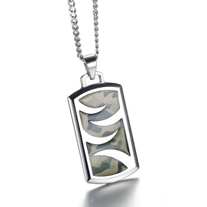 CAMOUFLAGE PENDANT NECKLACE