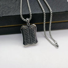 CLOVE DOG TAG PENDANT NECKLACE