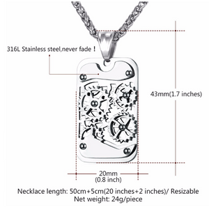 GEAR ROTATABLE PENDANT & NECKLACE