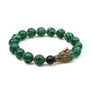 MALACHITE DRAGON HEAD