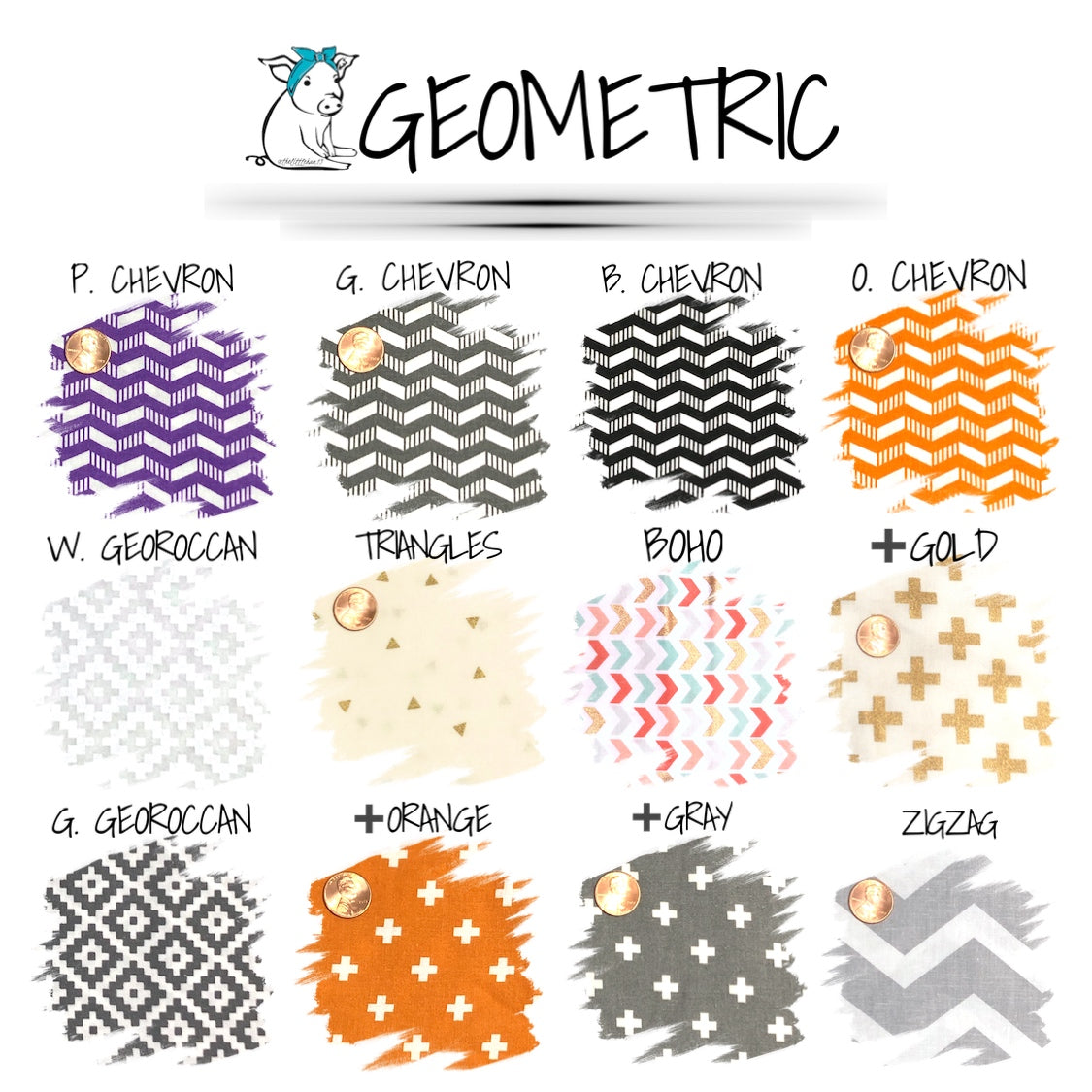 GEOMETRIC PATTERNED FACE MASKS