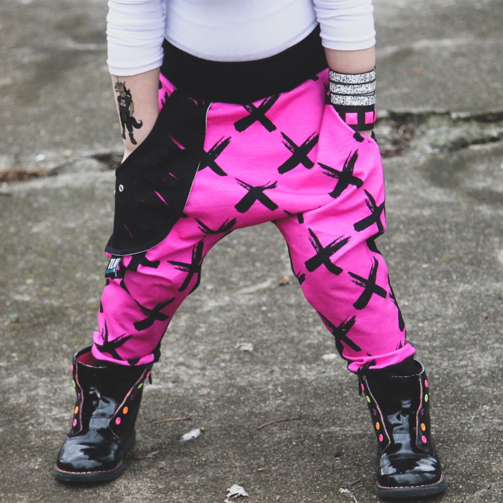 "LIMITED EDITION ""X"" Hot Pink Harem Joggers"