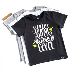 SAME GAME DIFFERENT LEVEL Tee