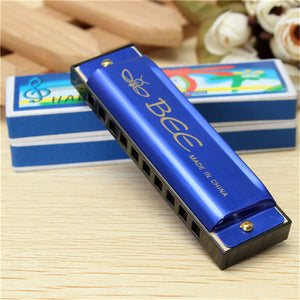 "Perfect for beginners!! Any age! Quality ""BEE"" 10 hole ""C"" key harmonica. Playin' the blues in no time!!"