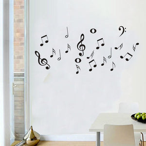 DIY Music Symbols Removable Vinyl Wall Stickers for Living Room Bedroom Decoration Home Decor. Way Cool!