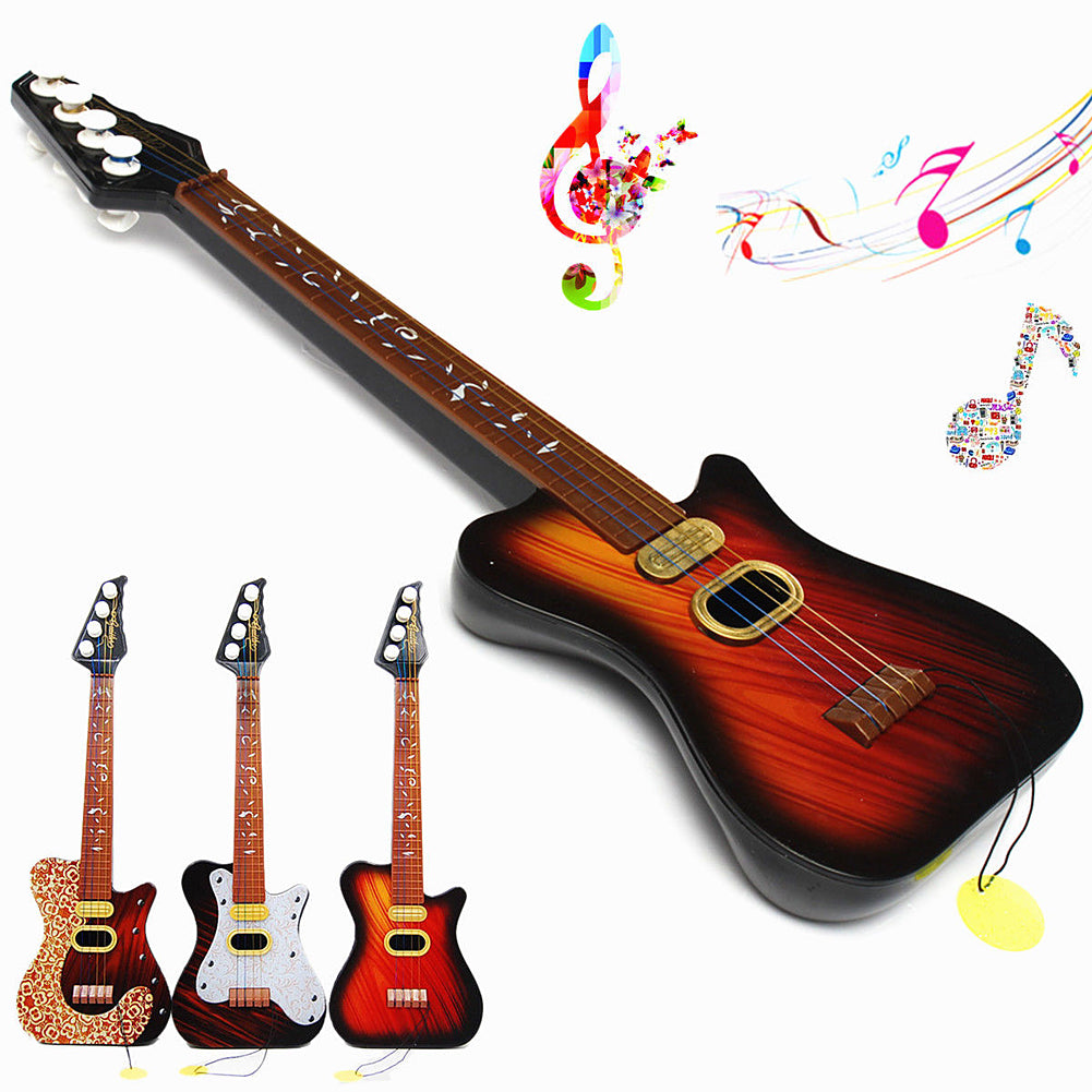 Kid\'s Baby 4 String Acoustic Toy Guitar Wisdom Development Guitar Random Color