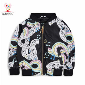 KAMIMI 2017 Fall Rainbow Sheet Music Print Kids Coat / Jacket!  Boys / Girls. 24M - 5T!! Nice!