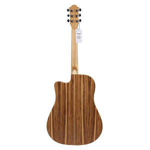 41'' Wooden Folk Guitar 21 Fret Acoustic Electric 6 String Beautiful Look....Beautiful Sound! Built In Tuner and Equalizer!!