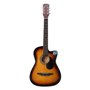 Zebra 38 Inch Wooden Folk Acoustic Guitar With Case Bag! Choose From 6 Colors!!