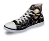Skull Style Casual Lace-up Canvas Shoes