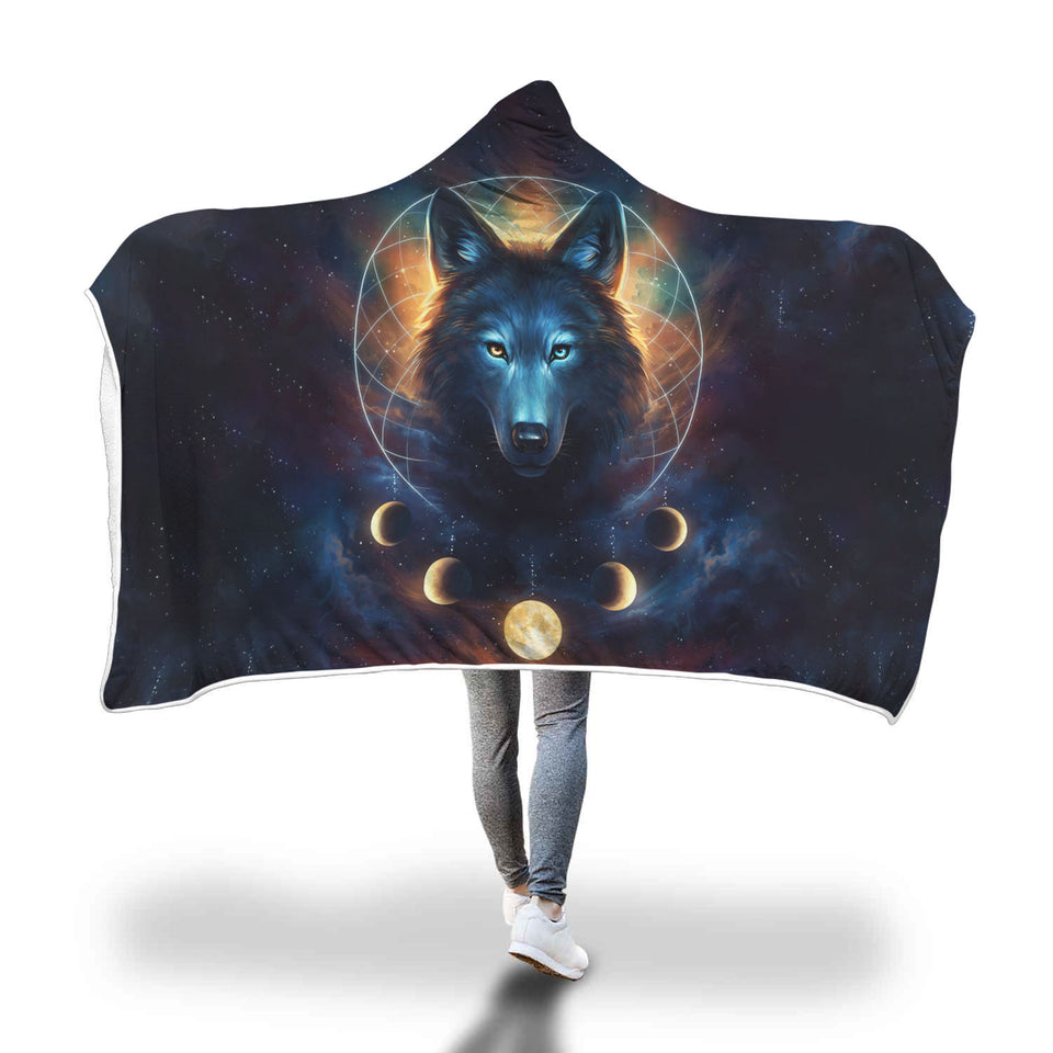 Be The Wolf Hooded Blanket