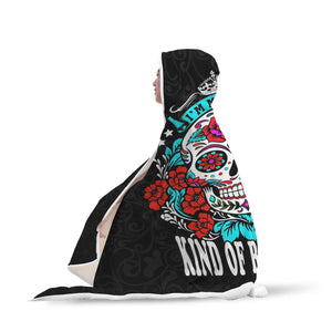 Kind Of Beautiful Hooded Skull Blanket