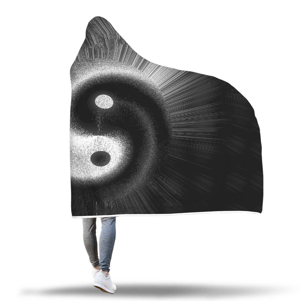 Shaded Yin Yang hooded Blanket
