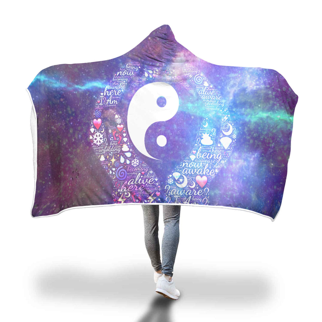 Seek Balance Of Mind Yin Yang Hooded Blanket