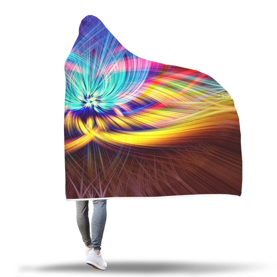 Colorful Aura Hooded Blanket