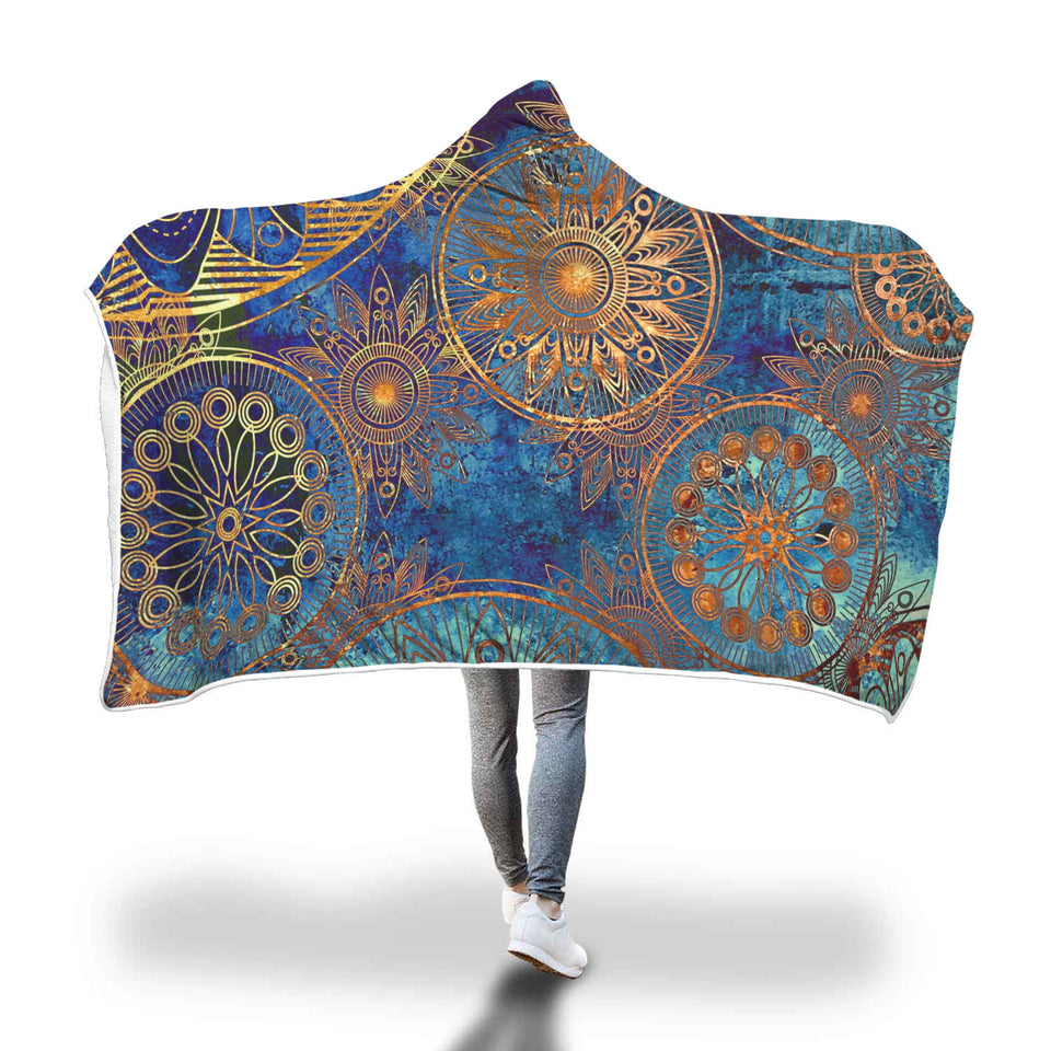 Harmony Of Mind Mandala Hooded Blanket