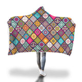 Time To Relax Colorful Mandala Hooded Blanket