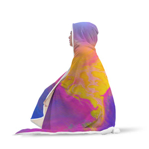 Make Life Colorful Hooded Blanket