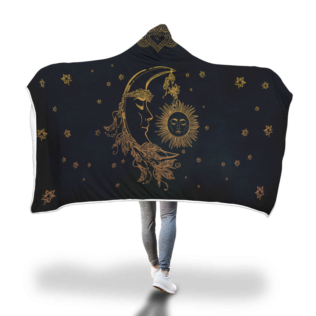 Bright As The Sun & Calm As The Moon Hooded Banket