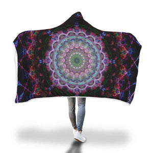 Pool Of The Mandala Hooded Blanket