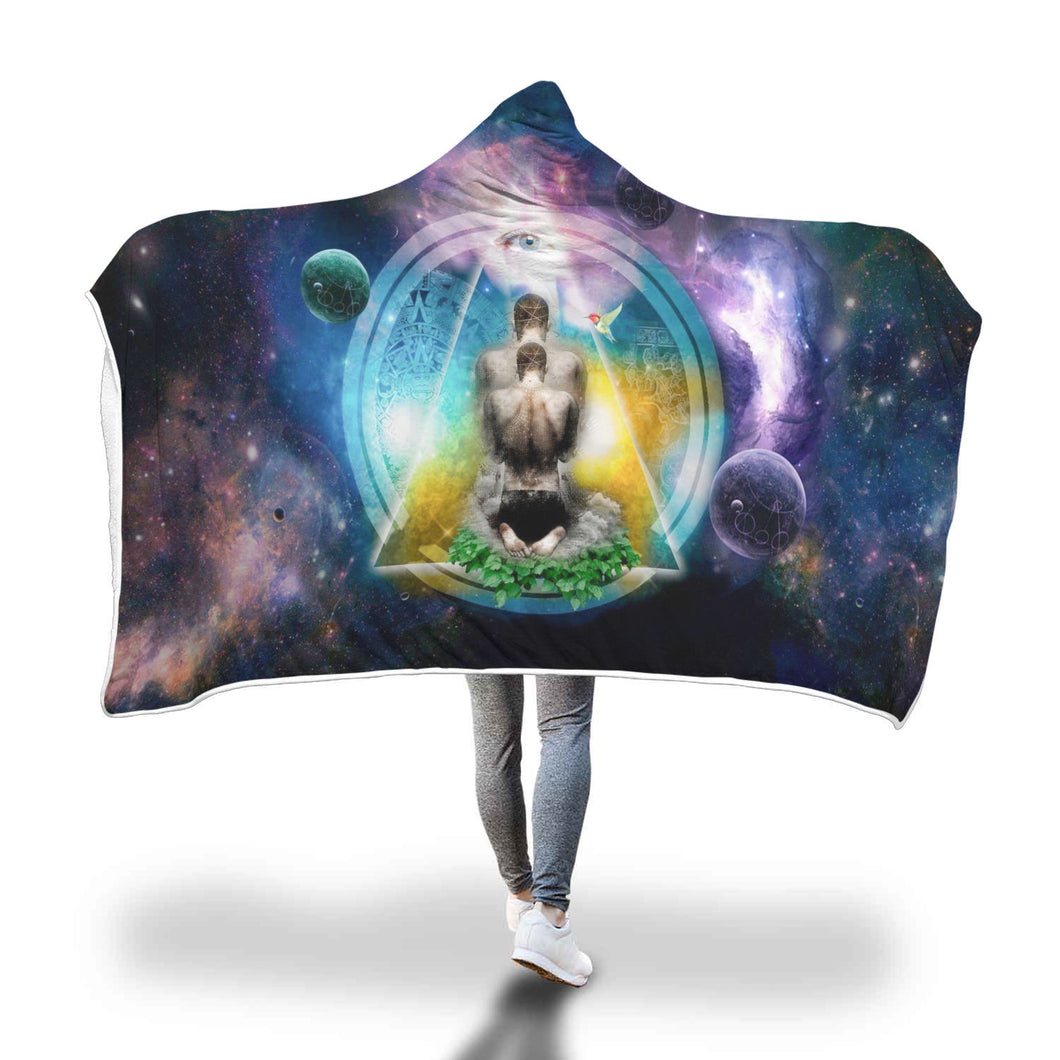 Spiritualist Is A Social Doctor Hooded Blanket