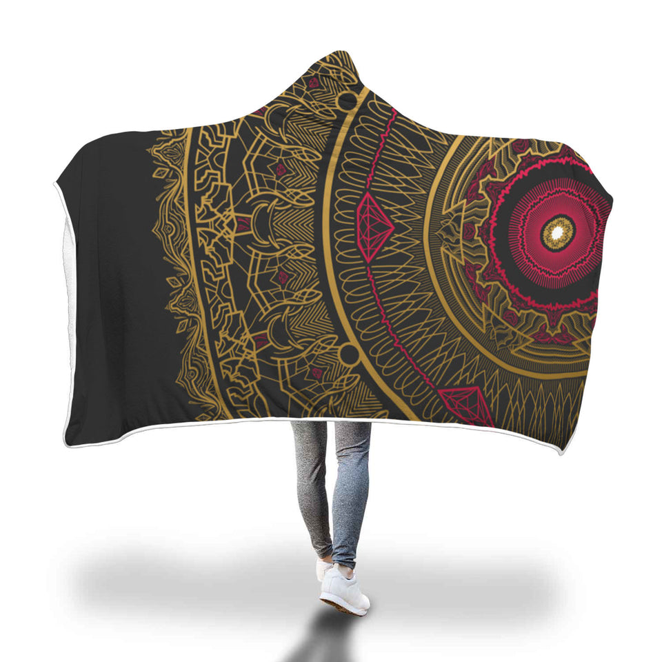 Mandala Art Hooded Blanket