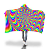 Rainbow Illustration  Hooded Blanket