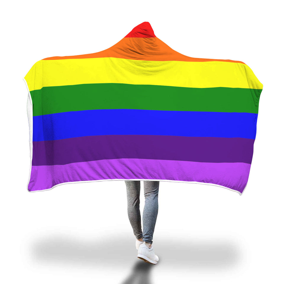 Color Your Life As A Rainbow Hooded Blanket