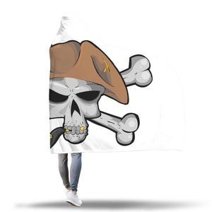 It's A Pirate's Life For Me!! Hooded Blanket