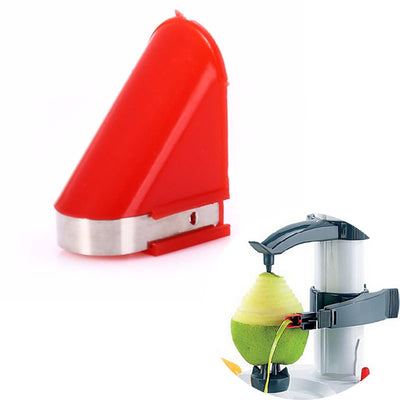 New Arrival Electric white stainless steel potato peeler fruit peeler Vegetable Peeler Potato Cutter With Spare Blades as gift