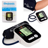 Digital Upper Arm Blood Pressure Monitor Heartbeat Portable Tonometer Arm Cuff Heart Beat Meter Machine Home Health Care