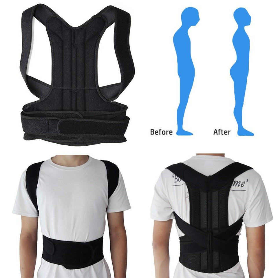 7e1ab21aba ... Adjustable Adult Corset Posture Correction Belt Body Back Posture  Corrector Shoulder Lumbar Brace Spine Support Belt ...