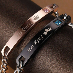 """Her King His Queen"" Bracelet 
