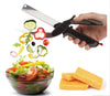 2-in-1 Vegetable Cutter Kitchen Scissors -Stainless Steel Knife with Cutting Board Built-in and Food Scissors Fruit Cutter