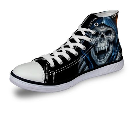 Laughing Skull Casual Lace-up Shoes