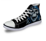 "Laughing Skull Casual Lace-up Shoes""Halloween special"""