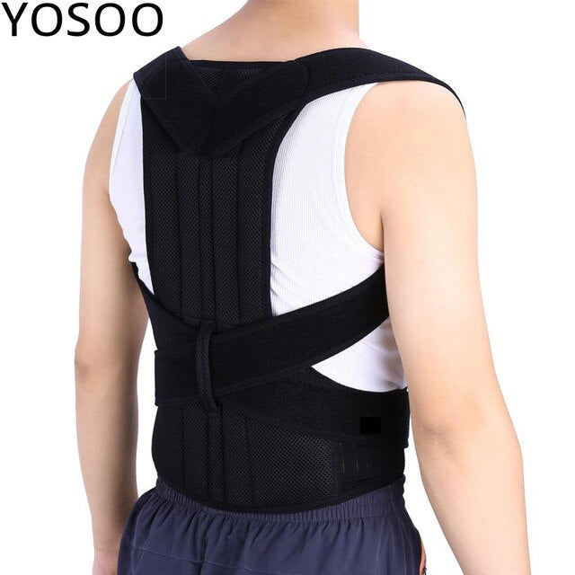 Oversea Braces Back Corset Shoulder Support Back Belt Posture Correction Adustable Adult Back Shoulder Support Belt