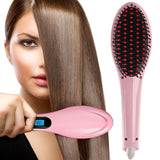Women Hair Quick Straightener Electric Ceramic Comb Brush